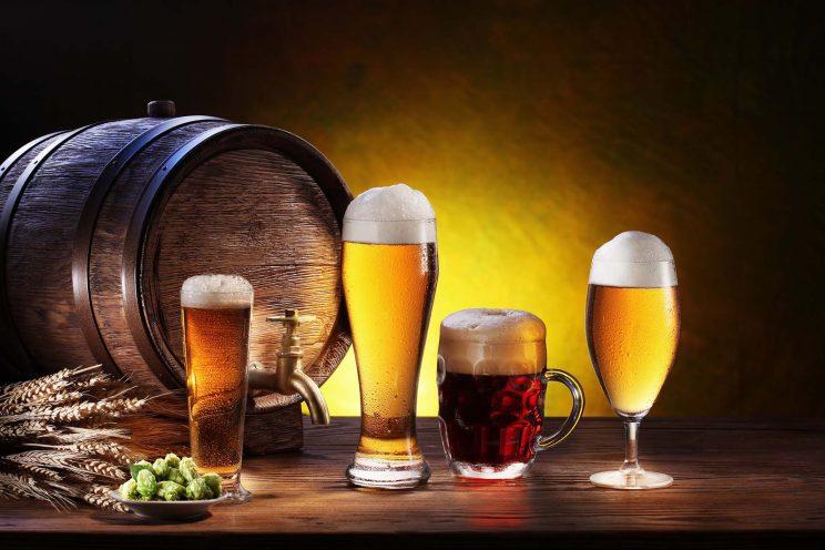 Verres de bière et de l'orge